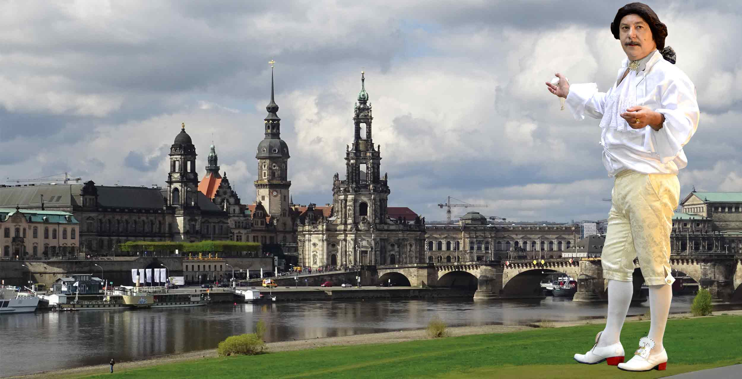 Casanovas Tour im Barockviertel von Dresden mit Wein