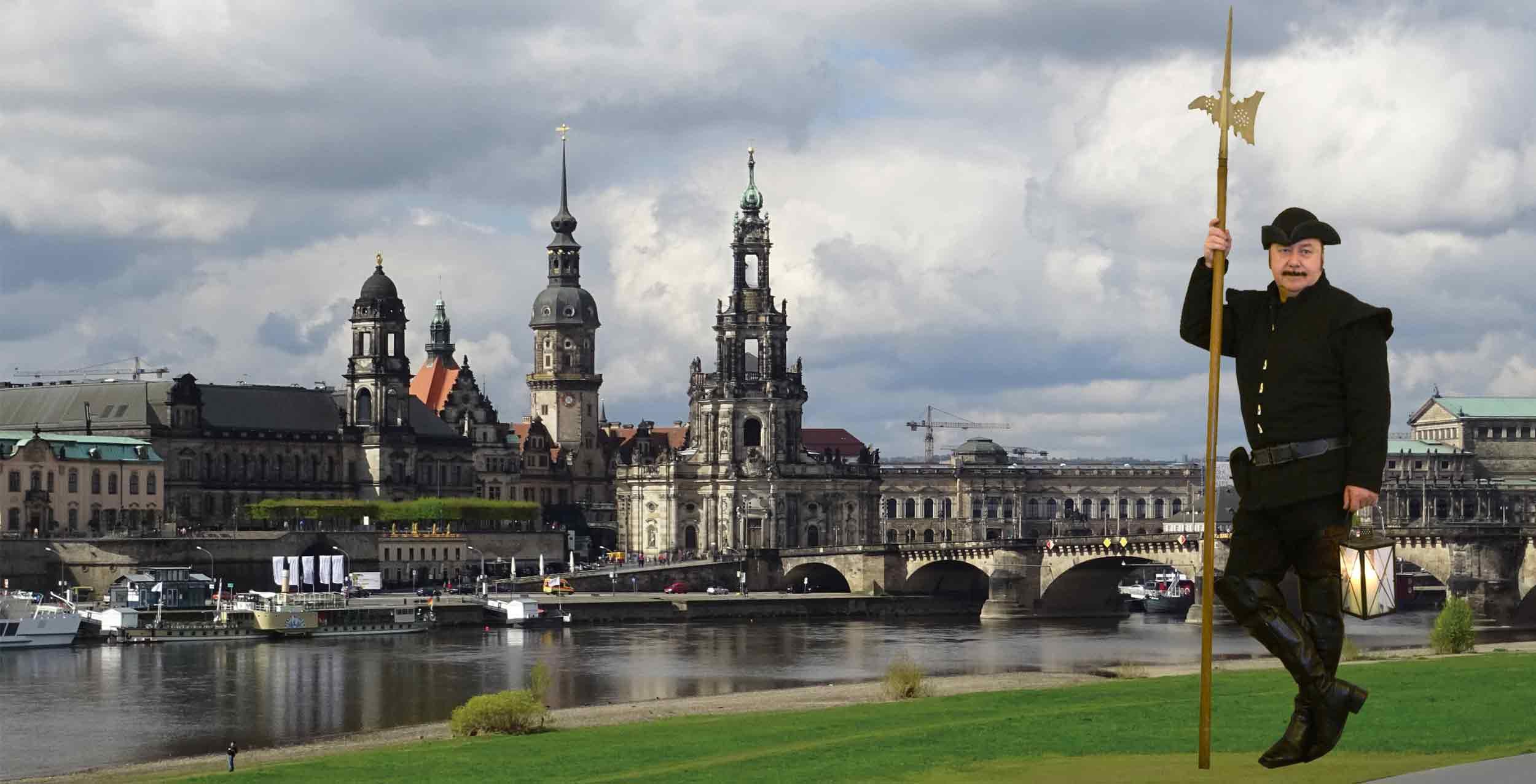 Nachtwächter Tour durch die Altstadt von Dresden